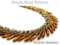 St Petersburg Stitch Necklace Beading Pattern DIY Tutorial