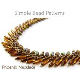 St Petersburg Stitch Necklace Beading Pattern DIY Tutorial