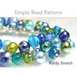 Stretch Wire Wrap Bracelet Tutorial Beading Pattern