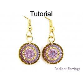 DIY Beaded Earrings Circular Brick Stitch Beading Instructions