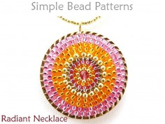 DIY Beaded Necklace Circular Brick Stitch Beading Instructions