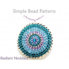 DIY Beaded Necklace Circular Brick Stitch Beading Instructions