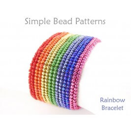 Beaded Herringbone Stitch DIY Rainbow Bracelet Beading Tutorial