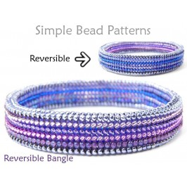 Beaded Bangle Bracelet Herringbone Stitch DIY Beading Pattern