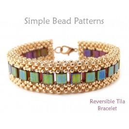 Cubic Right Angle Weave Tutorial Tila Bead Bracelet Pattern