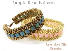 Cubic Right Angle Weave Tutorial Tila Bead Bracelet Pattern