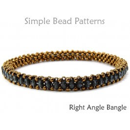 Right Angle Weave (RAW) Beaded Bangle Bracelet Pattern