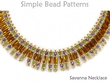 Bugle Beads Necklace Tutorial DIY Jewelry Making Beading Pattern