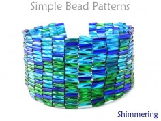 Bugle Bead Peyote Stitch Bracelet Pattern DIY Jewelry Making Tutorial