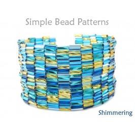 Bugle Bead Peyote Stitch Bracelet Pattern DIY Jewelry Making Tutorial