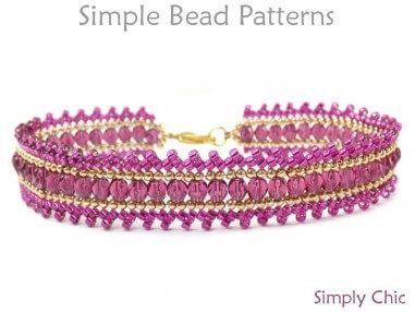 Beaded Wrap Bracelet DIY Herringbone Stitch Beading Tutorial