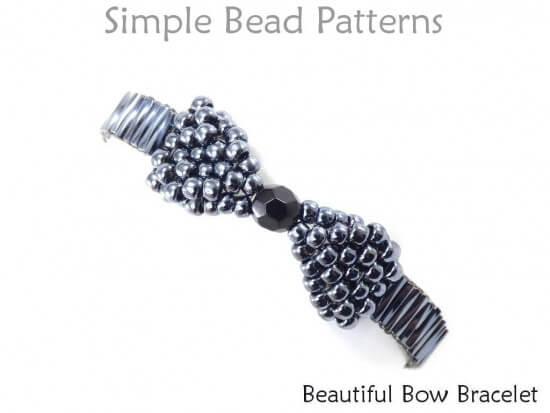 647f2b8ec Beaded Bow Bracelet Brick Stitch Jewelry Making Beading Pattern