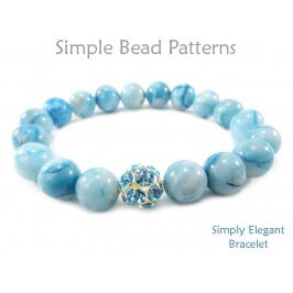 DIY Beaded Stretch Bracelet Gemstone Jewelry Making Beading Pattern