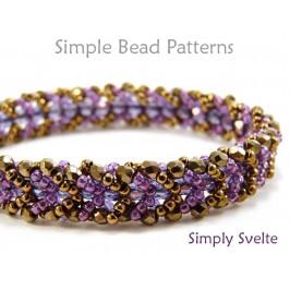 Flat Spiral Stitch Bracelet DIY Beading Pattern Jewelry Making Tutorial
