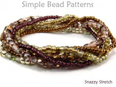 Beaded Stretch Bracelet Tutorial DIY Jewelry Making Beading Pattern