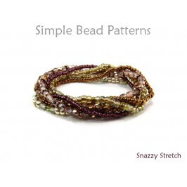 Beaded Stretch Bracelet Tutorial DIY Jewelry Making Beading Pattern