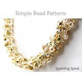 Double Spiral Beading Tutorial with Crystals & Pearls