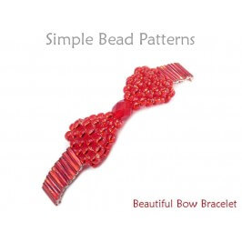 Beaded Bow Bracelet Brick Stitch Jewelry Making Beading Pattern