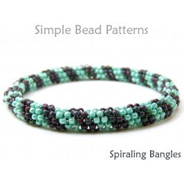 Beaded Bangle Bracelet Tubular Peyote Stitch Pattern