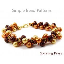 Spiral Rope Stitch DIY Pearl Necklace & Bracelet Beading Pattern