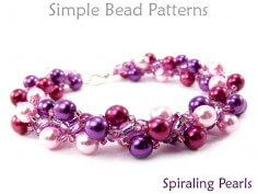 Spiral Rope Stitch DIY Pearl Necklace & Bracelet Beading Pattern