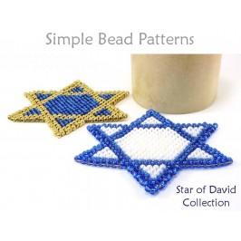 Star of David Necklace Brick Stitch Beading Pattern Hanukkah Tutorial