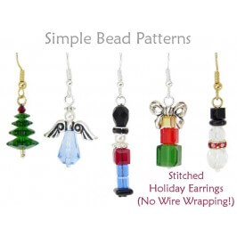 DIY Christmas Earrings Jewelry Making Tutorial Beading Pattern
