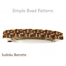 How to Make Beaded Barrettes with Seed Beads by Simple Bead Patterns