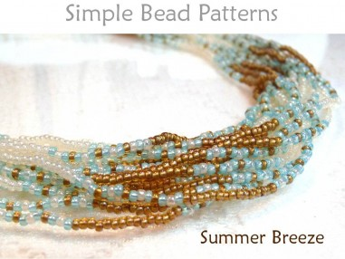 Multi Strand Necklace Tutorial with Seed Beads Beading Pattern