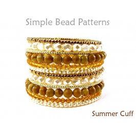 Memory Wire Cuff Bracelet Pattern DIY Bracelet Jewelry Making Tutorial