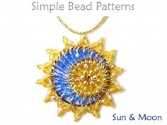 Sun and Moon Pattern DIY Pendant Beaded Necklace Tutorial