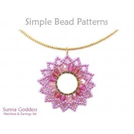 Circular Brick Stitch Beading Instructions Earrings & Necklace Pattern