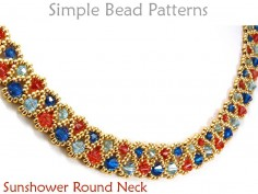 Crystal Necklace DIY Beading Pattern Jewelry Making Tutorial
