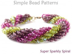 Triple Spiral Beading Instructions to Make a DIY Bracelet & Necklace