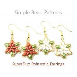 Poinsettia Earrings DIY Christmas Jewelry Making SuperDuo Earrings Tutorial