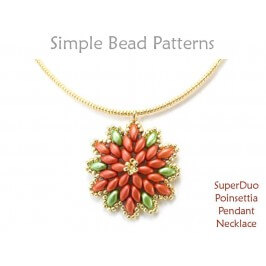 DIY Christmas SuperDuo Bracelet Pattern with Two Hole Beads