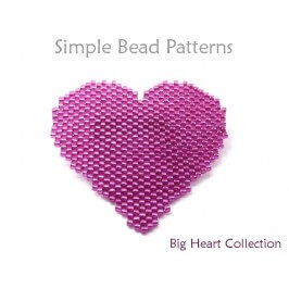Peyote Stitch Beaded Heart Necklace Brooch Pin Coaster Beading Pattern