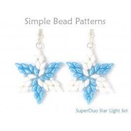Beaded Star SuperDuo Bead Pattern DIY Jewelry Making Tutorial