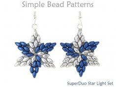 Beaded Star SuperDuo Bead Pattern DIY Jewelry Making Tutorial