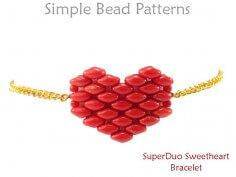 Heart Bracelet Pattern SuperDuo Bracelet Tutorial Valentine's DIY