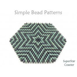SuperDuo Bead Pattern for How to Make Beaded Coasters