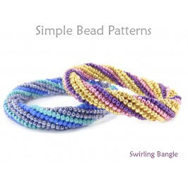 DIY Beaded Bangle Bracelet Tubular Herringbone Stitch Instructions