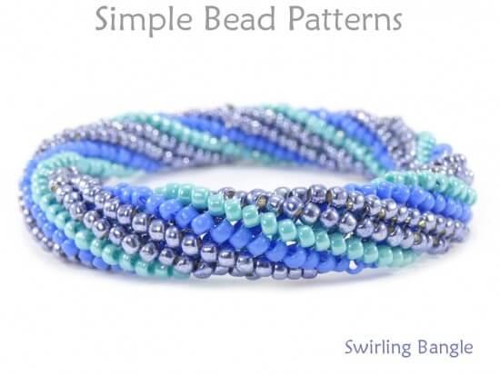 f9d4061cd9b DIY Beaded Bangle Bracelet Tubular Herringbone Stitch Instructions