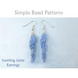 Beaded Icicle Earrings Spiral Stitch Beading Pattern