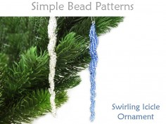 Beaded Icicle Ornament Instructions Spiral Stitch Beading Pattern