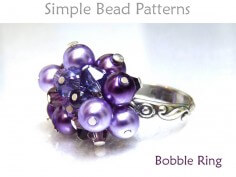 DIY Beaded Wire Wrapped Bobble Cluster Ring Jewelry Making Pattern