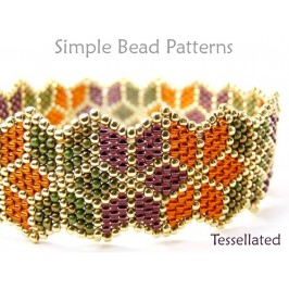 Brick Stitch Beading Pattern for Poinsettia DIY Christmas Jewelry