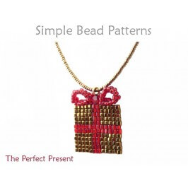 DIY Christmas Necklace Square Stitch Beading Pattern