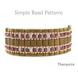 Half Tila & Tila Bead Bracelet Pattern Jewelry Making Tutorial