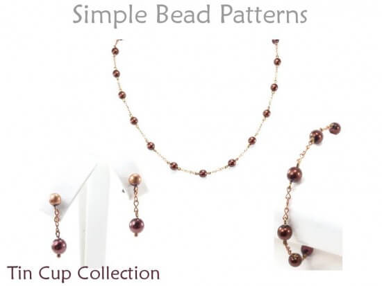 Wire Wrapped Bracelet Necklace Amp Earrings Beading Pattern